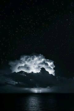 Art_ambiance_Ciel_nuit_étoile_orage_mer